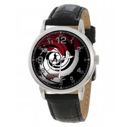 The Original James Bond 007 Spiral Art Blood-Splattered British Iconography Wrist Watch