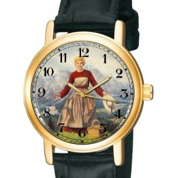 Rare Sound of Music Julie Andrews Hollywood Poster Art Collectible Wrist Watch.