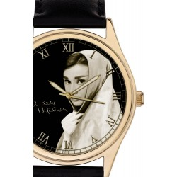 Beautiful Audrey Hepburn Hollywood Memorabilia 40 mm Collectible Watch
