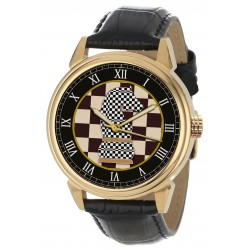 Chequered Knight Chess Art Collectible 40 mm Solid Brass Wrist Watch