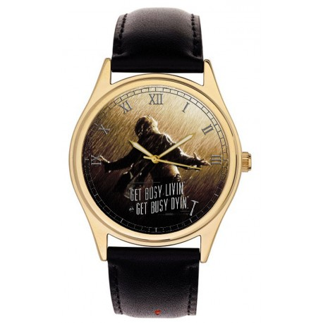 The Shawshank Redemption. Vintage Hollywood Cult Art Collectible 40 mm Brass Wrist Watch