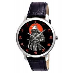 Ancient Samurai Warrior Kanji Dial Wrist Watch. 古代武士の漢字は、腕時計のダイヤル
