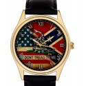 """Confederate Army American Southern Nationalism Flag """"Don't Tread on Me!"""" Vintage Art Collectible Wrist Watch"""