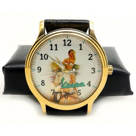 Vespa Vintage Italian Scooter Art Wrist Watch. Orologio. 40 mm. Collectible.