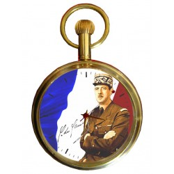 Charles de Gaulle Pocket Watch French Nationalism. Montre de poche nationalisme française