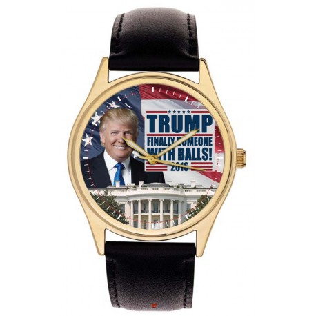 President Donald Trump White House Wrist Watch. Finally Someone with Balls. Classic Americana!