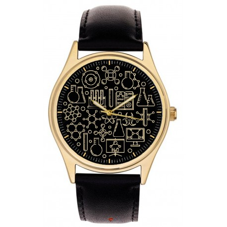 The Chemistry Watch. Classic Chemical Symbols Wrist Watch 40 mm