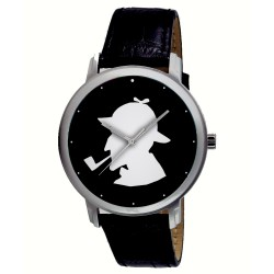 Classic Sherlock Holmes Silhouette Art Collectible Arthur Conan Doyle Wrist Watch