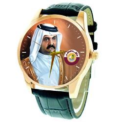 H.E. Sheikh Hamad bin Khalifa Al Thani Emir of Qatar Collectible Wrist Watch … الشيخ حمد بن خليفة آل ثاني