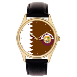 The National Flag of Qatar. High Quality Heavy Brass Collectible Gents' Wrist Watch … الشيخ حمد بن خليفة آل ثاني‎‎