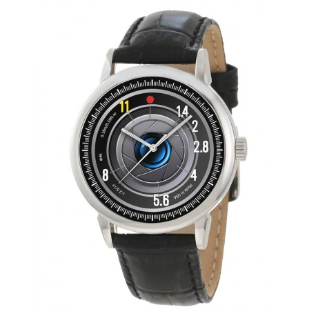 Classic SLR Camera Lens Aperture Art Wrist Watch for Photography Enthusiasts