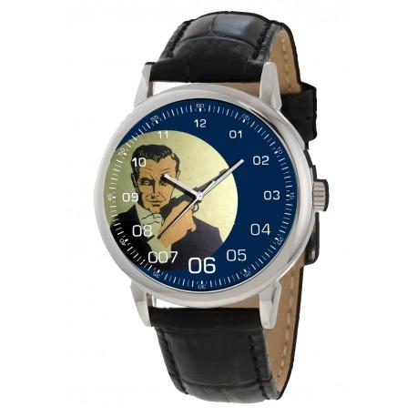 Vintage 1950 Ian Fleming Art James Bond 007 British Iconography Collectible Wrist Watch