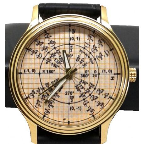 Golden Graph Radian Math Unit Circle Trigonometry Wrist Watch