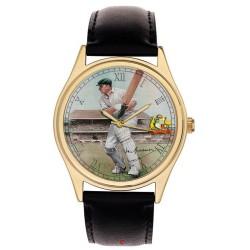 Sir Don Bradman at Lords Vintage Art Cricketing Collectible 40 mm Wrist Watch