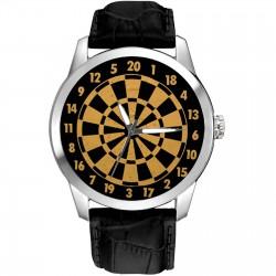 Vintage British Dartboard / Darts 40 mm Collectible Wrist Watch English Pub Art