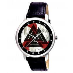 Beautful Valknut / Valknute Germanic / Norwegian / Celtic Art Wrist Watch 40 mm