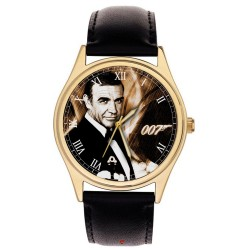 Sean Connery The Original 007 James Bond Movie Art Collectible Wrist Watch