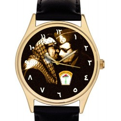 Yasser Arafat & Gaddafi Vintage Palestine-Libya Arab Unity Art Collectible Wrist Watch