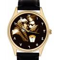 Yasser Arafat & Gaddafi Vintage Palestine-Libya Arab Unity Art Collectible Wrist Watch