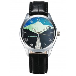 Mont Blanc Chamonix Mer De Glace Vintage French Art Collectible 40 mm Wrist Watch