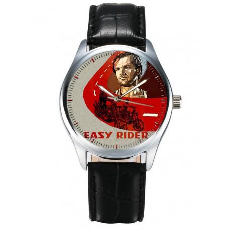 Easy Rider. Peter Fonda, Jack Nicholson, Classic Motorcycle Art Vintage Hollywood Cult Art Wrist Watch
