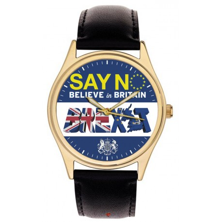 Say No. Believe in Britain. Historical Brexit Leave Campaign Art 40 mm Wrist Watch