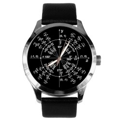 Mathematics Unit Radian Circle Trigonometey Pi Value Wrist Watch. Black Dial.
