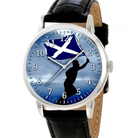 Aye! For Scotland. Scottish independence Collectible Blue Saltpetre Flag art Wrist Watch