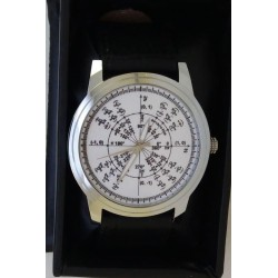 Classic White Dial Radian Math Pi Circle Trigonometry Mathematics Art Wrist Watch