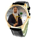 King Faisal, Vintage Saudi Arabia Royalty Patriotism Portrait Art Collectible Wrist Watch, فيصل بن عبدالعزيز آل سعود‎‎
