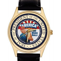 The Donald Trump Presidential Watch - Official Seal Of The President Of The USA - No More Bull!