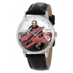 The Red Baron. Manfred von Richtofen Fokker Triplane WW-I German Art Collectible Wrist Watch