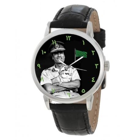 Muammur Gaddafi Vintage Islamic Green Libyan Nationalism Art Collectible Wrist Watch