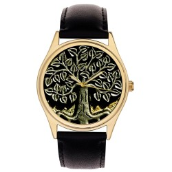 Beautiful Celtic Tree Of Life Art Solid Brass Symbolic Collectible Wrist Watch