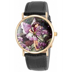 Heliotrope - Cecily Mary Barker Original Art Flower Fairy Wrist Watch