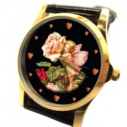 ROSE - CECILY MARY BARKER Original Art Flower Fairy Wrist Watch