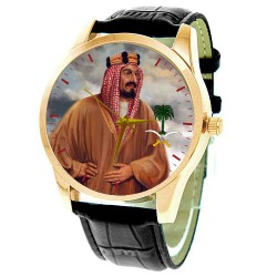King Abdulaziz Al Saud, Founder of Saudi Arabia, Rare Portrait Art Collectible Wrist Watch, عبد العزيز بن عبد الرحمن آل سعود‎‎,