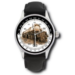 Classic Railroad Steam Engine Railways Locomotive Art Collectible Wrist Watch