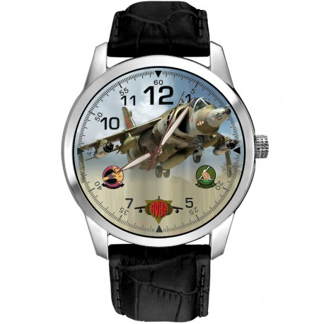MCDONNELL DOUGLAS AV-8B II HARRIER BRITISH AEROSPACE JUMP JET AVIATION ART WATCH