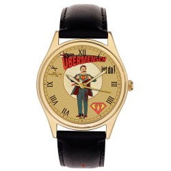 Friedrich Nietzsche Ubermensch Superman Kitsch Collectible Philosophy Art Wrist Watch