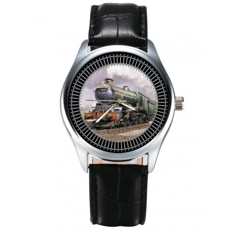 Classic Railroad Tracks Art Steam Engine Railways Locomotive Collectible Wrist Watch