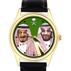 King Salman, Custodian of the Two Holy Mosques. Collectible Wrist Watch.