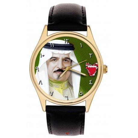 H.E Hamad bin Isa bin Salman Al Khalifa, The King of Bahrain, Portrait Art Wrist Watch. حمد بن عيسى بن سلمان آل خليفة