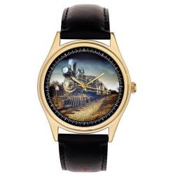 Vintage British Railways Steam Engine Art Railway Regulator Brass Wrist Watch