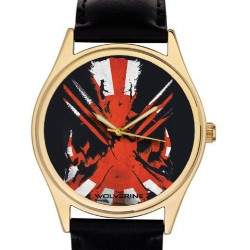 Wolverine. Fantastic Postmodern Comic Art 40 mm Heavy Brass Collectible Wrist Watch