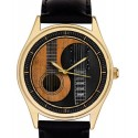 Beautiful Yin Yang Guitar Art Every Guitarist's Collectible Wrist Watch. 40 mm. Brass.