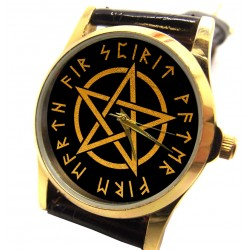 Wiccan Witch Pentagram Collectible Mystic Pagan Symbolism Ladies' Wrist Watch