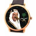 King Faisal, Vintage Saudi Arabia Royalty Patriotism Portrait Art Collectible Wrist Watch, فيصل بن عبدالعزيز آل سعود