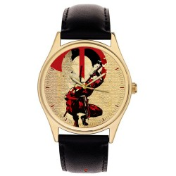 Deadpool Crimson Blood Red Postmoderne Anti-hero Comic Art Collectible Wrist Watch