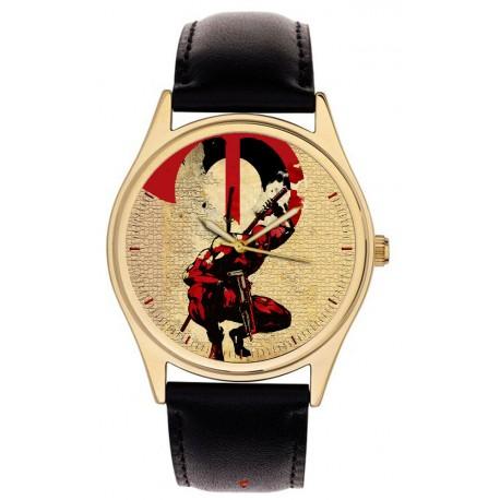 Deadpool Crimson Blood Red Postmoderne Anti-hero Comic Art Collectible Wrist Watch